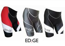 ED:GE™ Padded Cycling Cycle Lycra Compression Shorts Red Black White S M L XL