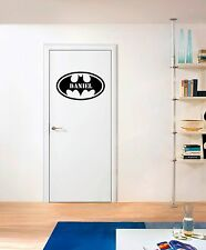 BATMAN Custom Logo x 4 Furniture Stickers Boys Kids Wall Art Decal deva grafix