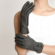 ELMA Winter super Warm genuine nappa leather Plam dress Gloves