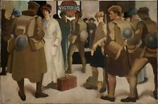 Victoria Station District Railway Meninsky Bernard 1918 Vintage Art Poster/Pho