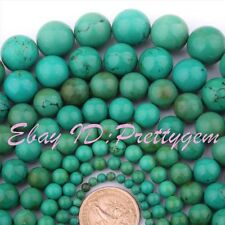"""Natural Round Old Turquoise Gemstone For DIY Jewelry Making Beads 15"""" Pick Size"""