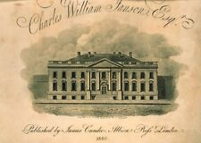 Front View Presidents House In City Washington Artist 1807 Art Poster/Photo Pr