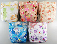 BAMBOO BABY RE-USABLE CLOTH DIAPER NAPPY+ BAMBOO INSERT NEWBORN CLOTH DIAPERS