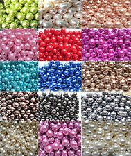 4 - 14mm Faux Imitation Pearl Beads In Many Colours Craft Jewellery Making