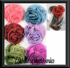 New Large 12cm 3 Rose Flower Cluster Corsage Brooch Pin Hair Fascinator Clip