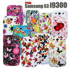 5 Colour Flower Silicone Mobile Case Cover For Samsung Galaxy S3 I9300 / S3 I747