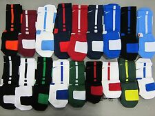 NEW NIKE ELITE CREW BASKETBALL SOCKS ALL COLORS AND ALL SIZES M, L, XL