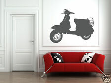 Vespa Scooter, Vespa Wall Decal, Scooter Decal, Hipster Wall Decal, Dorm Decor