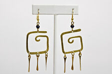 Maisha Beautiful Trendy  Brass Earrings Handmade Fairtrade Kenya Africa