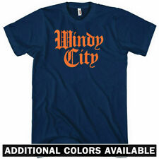 WINDY CITY T-shirt - Gothic - Chicago 312 773 Bulls Bears Sox Cubs - NEW XS-4XL