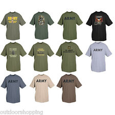 One-Sided Imprinted/Logo T-Shirt -  Cotton, Army, Eagle, Soldier SS Tee, Etc..
