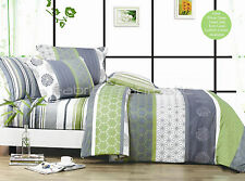 DEXTER Double/Queen/King Size Bed Quilt/Doona/Duvet Cover Set New 100% Cotton