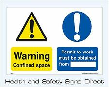 CONFINED SPACE SIGNS & STICKERS ALL SIZES! ALL MATERIALS! FREE P+P (MP26)