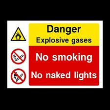 EXPLOSIVE GASES SIGNS & STICKERS ALL SIZES! ALL MATERIALS! FREE P+P (MP37)