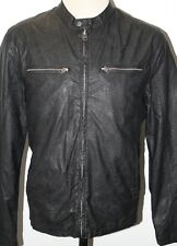 NWT MEN'S LEVIS LEVI'S PAPER RACER FAUX LEATHER MOTO JACKET COAT SIZE L 2XL $160
