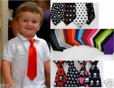 Solid Color/Logo Satin Child Baby Elastic Neck Tie Girl/Boy USA Buy 5 Get 1 FREE