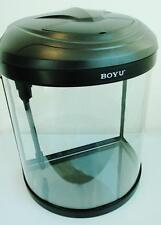 Small Half Moon Nano Aquarium Fish Tank / Tropical /Coldwater 26 Ltr Boyu BYG-26