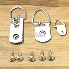 10X/20X Triangle Picture Wall Hangers Hooks With Screws - Frame Fixings Pins