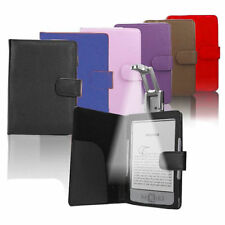 Luxury Leather Case Cover Wallet with Light for Amazon Kindle 4 4th 5 Generation