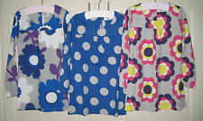 New Mini Boden Funky Dress Top 2-12 years Retro Floral Spot