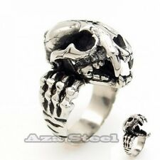 Men's Beast Skull Openable Jaw 316L Stainless Steel Ring US Size 9,10,11,12,13