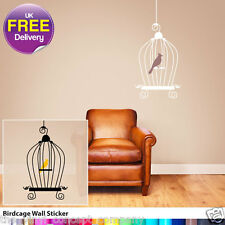 BIRD CAGE 03 WALL DECAL NEW DIY DECALS TREE FLOWERS DECO DECORATIVE WALL STICKER