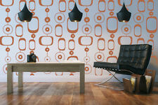 Wall Decal Geometric Retro Mod Chain Circles Modern Mural Shapes Abstract