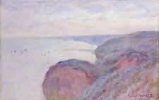 A4+ Size Print:Monet Claude Steep Cliffs Near Dieppe #jwnh3238-1218