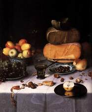 Photo Print Laid Table with Cheeses and Fruit detail Dijck, Floris Claesz Van