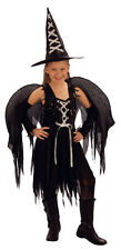 Girl's Goth Witch Fairy Fancy Dress Costume Sizes Small Medium & Large New
