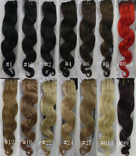 "AAA 18""-26"" Remy Human Hair Weft Body Wavy Deep Curly 100g width 59"" More Colors"