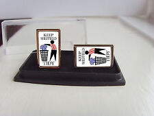 SHEFFIELD UNITED SUPPORTERS KEEP YOUR AREA TIDY BADGE MENS CUFFLINKS GIFT