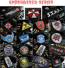 C- Resident Evil Biohazard Arm Embroidered Patches 19 Choices w/ fullback Velcro