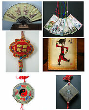 Chinese folk crafts themes vary fan fengshui figure picture Luo Pan Bagua Mirror