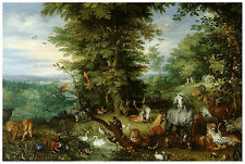 Art Photo Print - Brueghel Jsr Adam And Eve In Garden Of Eden - Jan Brueghel The