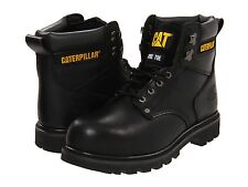 Men's Caterpillar Work Boots Second Shift Black Steel Toe P89135 Wide
