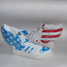 Adidas x Jeremy Scott Wings 2.0 American USA Flag Shoes