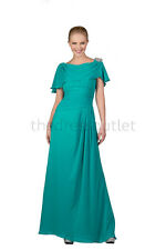 Beautiful Modest Simple Long Prom Homecoming Formal Bridesmaid Ball Dress Gown