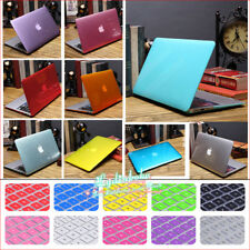 """2in1 10Colors Crystal Plastic Hard Case+KB Cover for Mac Pro 13"""" A1278/15"""" A1286"""