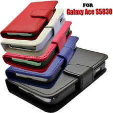 4 COLOUR WALLET FLIP PHONE CASE COVER FOR SAMSUNG GALAXY ACE S5830 / GT-S5839i
