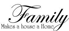 Family Makes a House Home vinyl wall decal quote sticker decor Inspirational