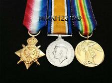 MINIATURE WW1 1914 STAR BWM & VICTORY MEDAL TRIO HIGH QUALITY + MOUNTING OPTIONS