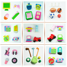 Assorted Wacky Puzzle Erasers Computer Digital Life Sports Music Communications