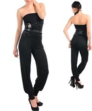 New Womens Sexy Sequined Black Fashion Party Jumpsuit Rompers Ladies One Pieces