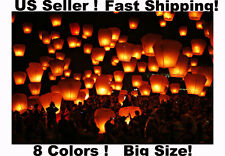 Wholesale Lot 10/20/50 Chinese Sky Lanterns 8 Colors Wedding Party Wish Balloons