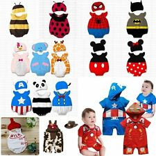 Baby Boy Girl Animal Fancy Costume Outfit Clothes Dress+HAT Set Size 00 0 1
