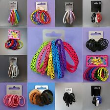 Brightly coloured Hair Elastics bobbles loops Girls & Women Hair accessories