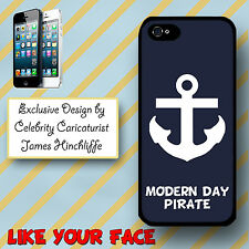 Phone case cover for Iphone 5 Anchor & quote phrase Nautical Navy Sea Pirate