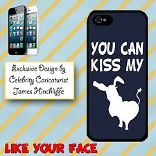 Cover for Iphone 4 4S Kiss my saying phrase funny rude ass silhouette Phone case