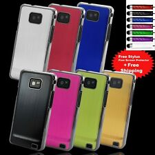 NEW ALUMINIUM SERIES CASE COVER FOR SAMSUNG GALAXY S2 i9100 + SCREEN PROTECTOR